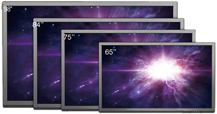 Interactive Touch Board sizes